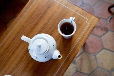 photo des boissons au salon de thé