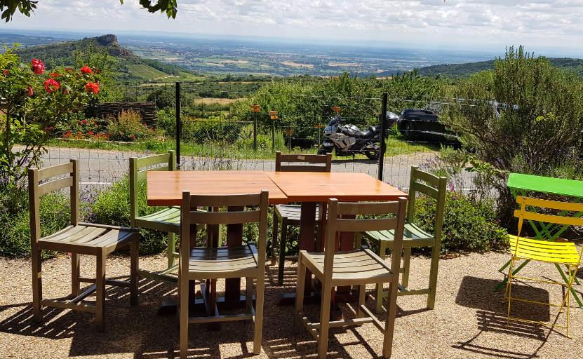 Photo de la vue depuis la terrasse